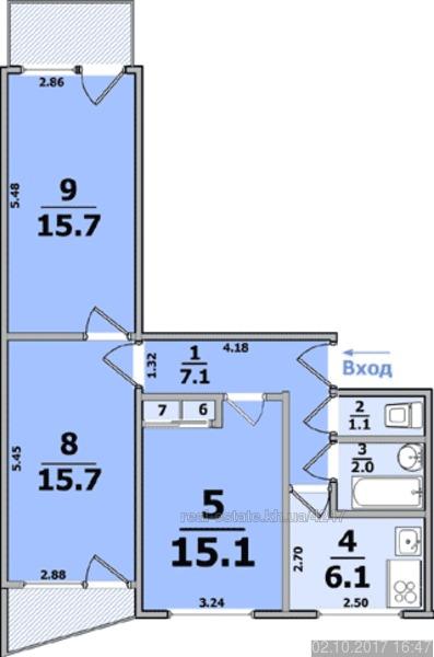Квартирa, продажа 882 000 грн - продам 3 комнатную квартиру .